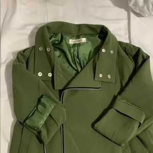 Green casual coat